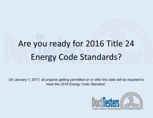 2016 Energy Code - DuctTesters