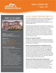 California Advanced Home Program