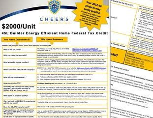 CHEERS - HERS PROVIDER - Federal Tax Credit Information
