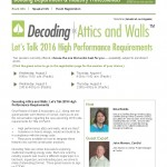 2016 Energy Code Standards - High Performance Walls & Attics