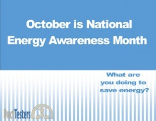 October is National Energy Awareness Month - What are you doing to save energy?