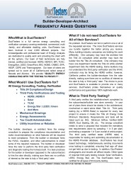 Energy Consultants and Energy Raters - DuctTesters FAQ