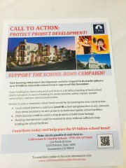 Call To Action Support the School Bond Campaign